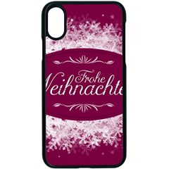 Christmas Card Red Snowflakes Apple Iphone X Seamless Case (black)