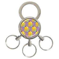 Seamless Repeat Repeating Pattern 3 Ring Key Chains