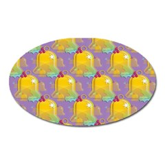 Seamless Repeat Repeating Pattern Oval Magnet