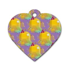 Seamless Repeat Repeating Pattern Dog Tag Heart (one Side)