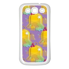 Seamless Repeat Repeating Pattern Samsung Galaxy S3 Back Case (white)