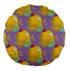 Seamless Repeat Repeating Pattern Large 18  Premium Flano Round Cushions