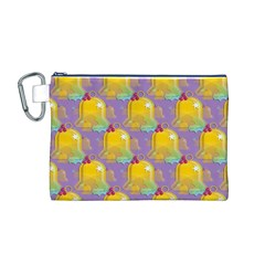 Seamless Repeat Repeating Pattern Canvas Cosmetic Bag (m)