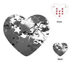 Background Celebration Christmas Playing Cards (heart)