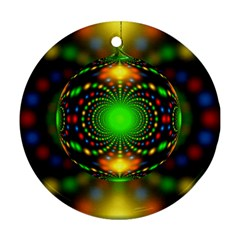 Christmas Ornament Fractal Ornament (round)