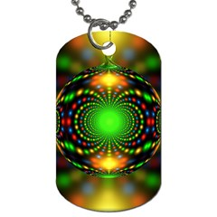Christmas Ornament Fractal Dog Tag (two Sides)