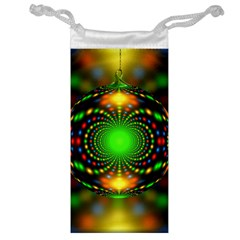 Christmas Ornament Fractal Jewelry Bag