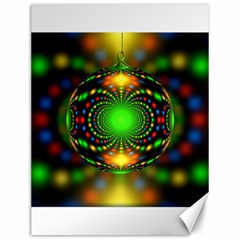 Christmas Ornament Fractal Canvas 12  X 16
