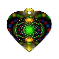 Christmas Ornament Fractal Dog Tag Heart (one Side)