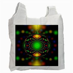 Christmas Ornament Fractal Recycle Bag (two Side)