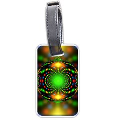Christmas Ornament Fractal Luggage Tags (one Side)