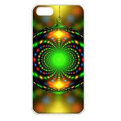 Christmas Ornament Fractal Apple Iphone 5 Seamless Case (white)