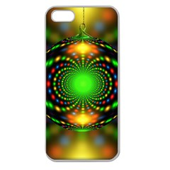 Christmas Ornament Fractal Apple Seamless Iphone 5 Case (clear)