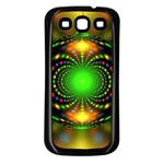 Christmas Ornament Fractal Samsung Galaxy S3 Back Case (Black) Front