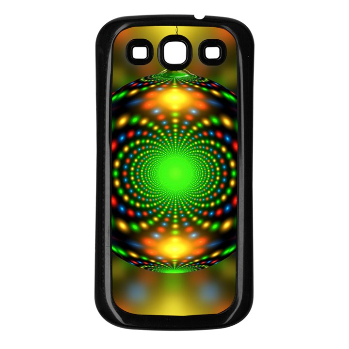 Christmas Ornament Fractal Samsung Galaxy S3 Back Case (Black)