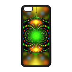 Christmas Ornament Fractal Apple Iphone 5c Seamless Case (black)