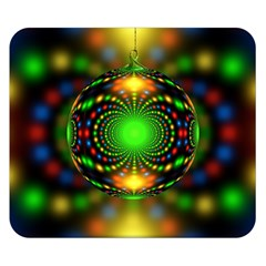 Christmas Ornament Fractal Double Sided Flano Blanket (small)