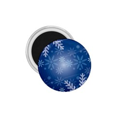 Snowflakes Background Blue Snowy 1 75  Magnets