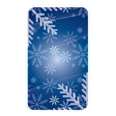 Snowflakes Background Blue Snowy Memory Card Reader