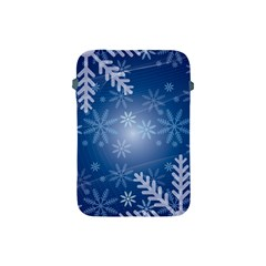 Snowflakes Background Blue Snowy Apple Ipad Mini Protective Soft Cases