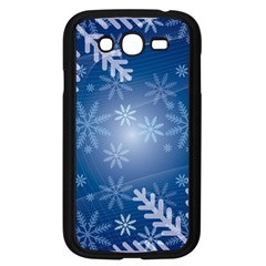 Snowflakes Background Blue Snowy Samsung Galaxy Grand Duos I9082 Case (black)