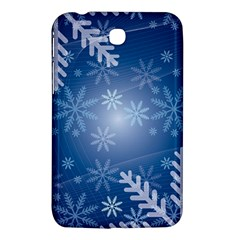 Snowflakes Background Blue Snowy Samsung Galaxy Tab 3 (7 ) P3200 Hardshell Case