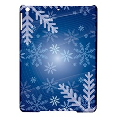 Snowflakes Background Blue Snowy Ipad Air Hardshell Cases
