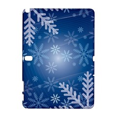 Snowflakes Background Blue Snowy Galaxy Note 1