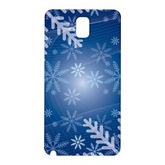 Snowflakes Background Blue Snowy Samsung Galaxy Note 3 N9005 Hardshell Back Case