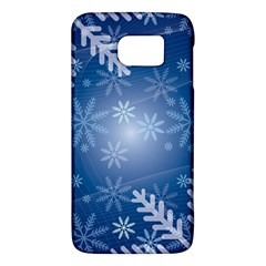 Snowflakes Background Blue Snowy Galaxy S6