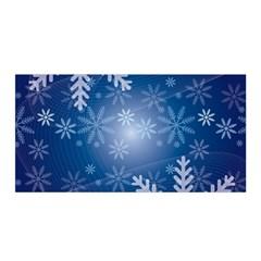 Snowflakes Background Blue Snowy Satin Wrap