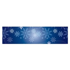 Snowflakes Background Blue Snowy Satin Scarf (oblong)
