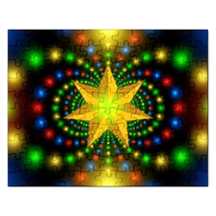 Christmas Star Fractal Symmetry Rectangular Jigsaw Puzzl