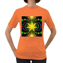 Christmas Star Fractal Symmetry Women s Dark T Shirt