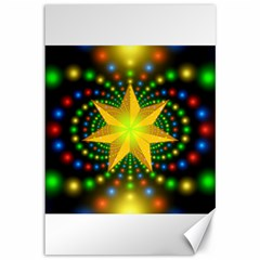 Christmas Star Fractal Symmetry Canvas 12  X 18