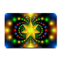 Christmas Star Fractal Symmetry Small Doormat
