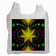 Christmas Star Fractal Symmetry Recycle Bag (one Side)