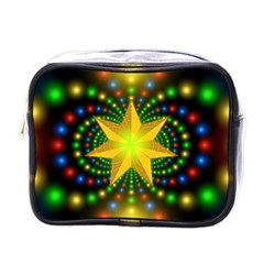 Christmas Star Fractal Symmetry Mini Toiletries Bags