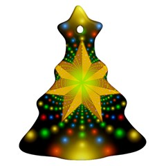 Christmas Star Fractal Symmetry Christmas Tree Ornament (two Sides)