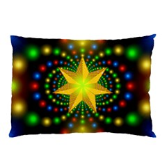 Christmas Star Fractal Symmetry Pillow Case (two Sides)