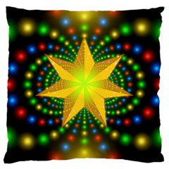 Christmas Star Fractal Symmetry Large Cushion Case (two Sides)