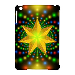 Christmas Star Fractal Symmetry Apple Ipad Mini Hardshell Case (compatible With Smart Cover)