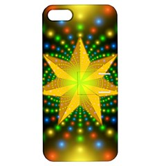 Christmas Star Fractal Symmetry Apple Iphone 5 Hardshell Case With Stand