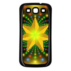 Christmas Star Fractal Symmetry Samsung Galaxy S3 Back Case (black)