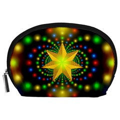 Christmas Star Fractal Symmetry Accessory Pouches (large)