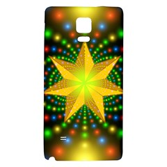 Christmas Star Fractal Symmetry Galaxy Note 4 Back Case