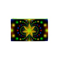 Christmas Star Fractal Symmetry Cosmetic Bag (xs)