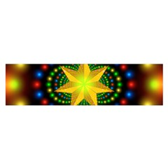 Christmas Star Fractal Symmetry Satin Scarf (oblong)