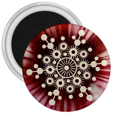 Background Star Red Abstract 3  Magnets