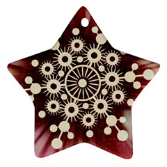 Background Star Red Abstract Ornament (star)
